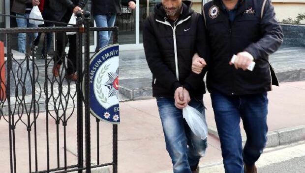 Samsunda gözaltına alına 4 DEAŞ şüphelisi adliyeye sevk edildi