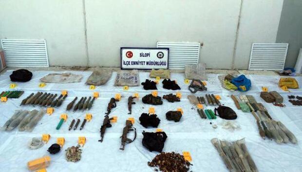 Silopide PKKnın silah ve mühimmatı bulundu