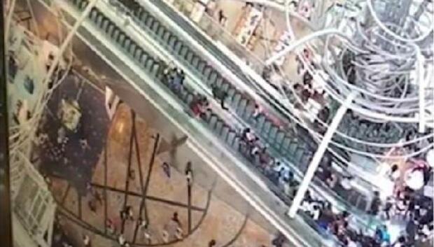 Escalator accident in Hong Kong