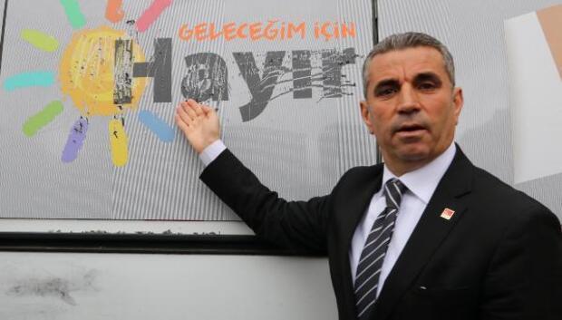 CHPnin referandum aracına saldırı