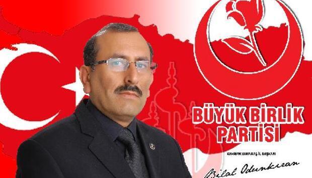 Kahramanmaraşta BBP İl Başkanlığına Odunkıran atandı