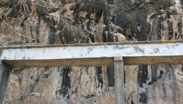 Kayalıklarda mahsur keçiyi itfaiye ekibi kurtardı