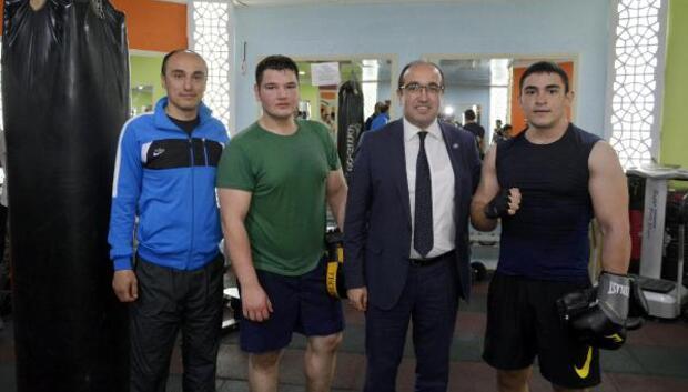 Başkan Çölden fitness salonu ziyareti