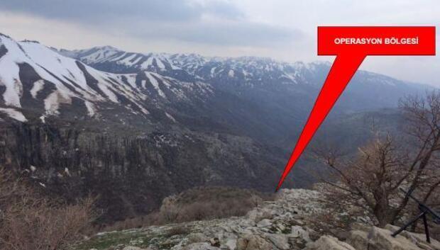 Cudi Dağı bölgesinde jandarma özel harekat ve polis özel harekattan ortak operasyon
