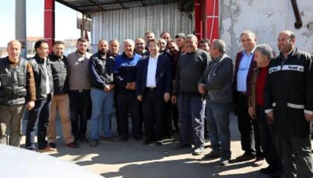Aksaray Belediye Başkanı, esnaflarla istişare yaptı