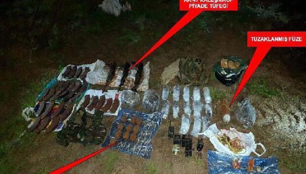 Silopide PKK silahları, patlayıcı ve mühimmat ele geçirildi