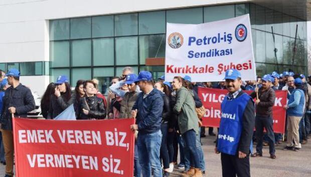 Kırıkkale Rafinerisi'nde işçilerden işi yavaşlatma eylemi
