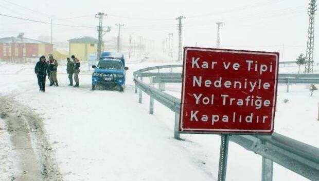 Ilgar Dağında Kar ve tipi etkili oldu
