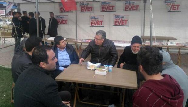 CHPden evet çadırına ziyaret