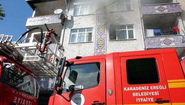 Ereğlide ev yangını korkuttu