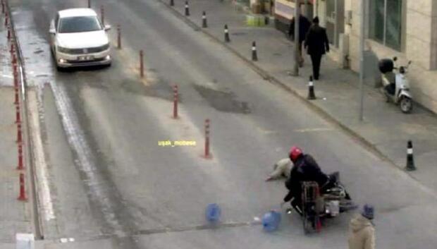 Uşakta trafik kazaları MOBESE kameralarında