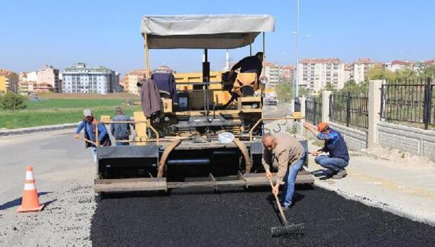 Hastane yolunda asfalt çalışması başladı