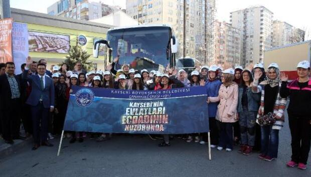 Kayseride belediye Çanakkale gezilerini başlattı