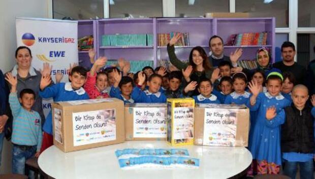 Kayserigazdan, Bünyandaki okullara kitap yardımı