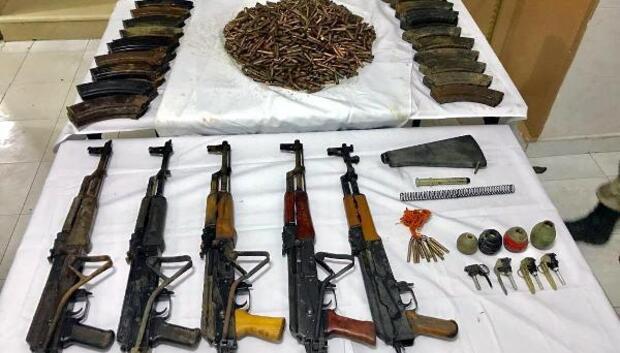 Silopide PKKnın silah ve el bombaları bulundu