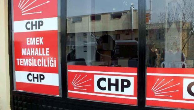 Darıcada CHPnin mahalle temsilciliğinin camı kırıldı