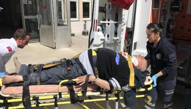 Enez eski belediye başkanı Şevket Kurt kazada yaralandı