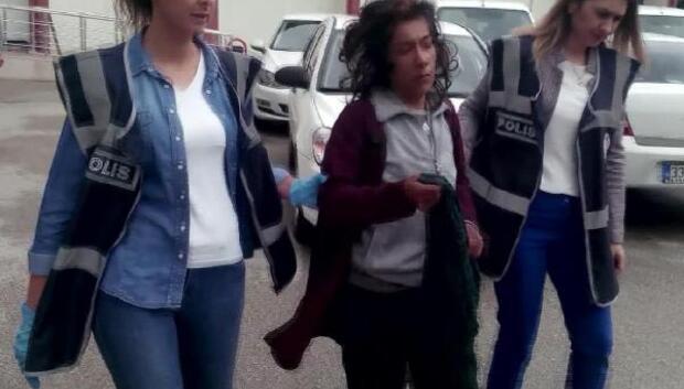 Hırsızlık yapan kadın suçüstü yakalandı