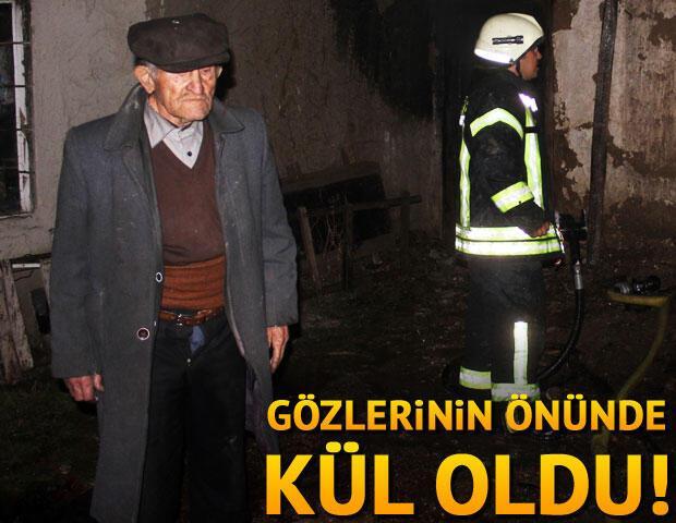 70 yıllık evi gözlerinin önünde kül oldu 66
