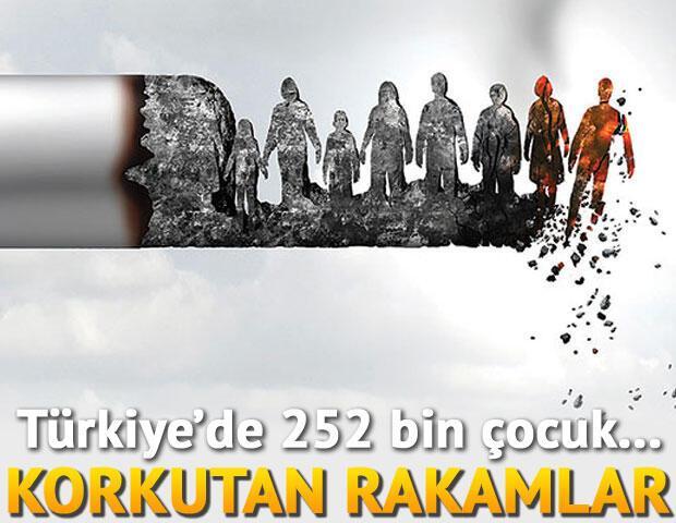 Farkında mısınız Türkiye'de 252 bin çocuk sigara kullanıyor... Söndür onu