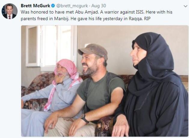 ABD özel temsilcisinden skandal YPG mesajı