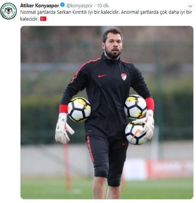 Konyaspordan Serkan Kırıntılı Tepkisi Son Dakika Spor Haberleri