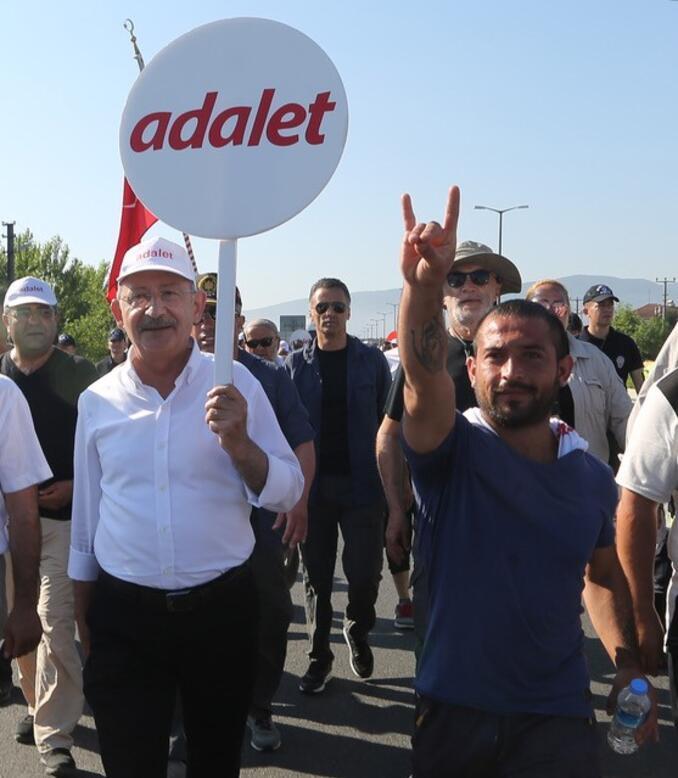 Adalet Yürüyüşü'nün 14'üncü gününde mermili provokasyon