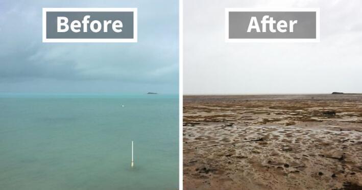 Son dakika: Dünya bu görüntüyü konuşuyor okyanus suyu kayboldu