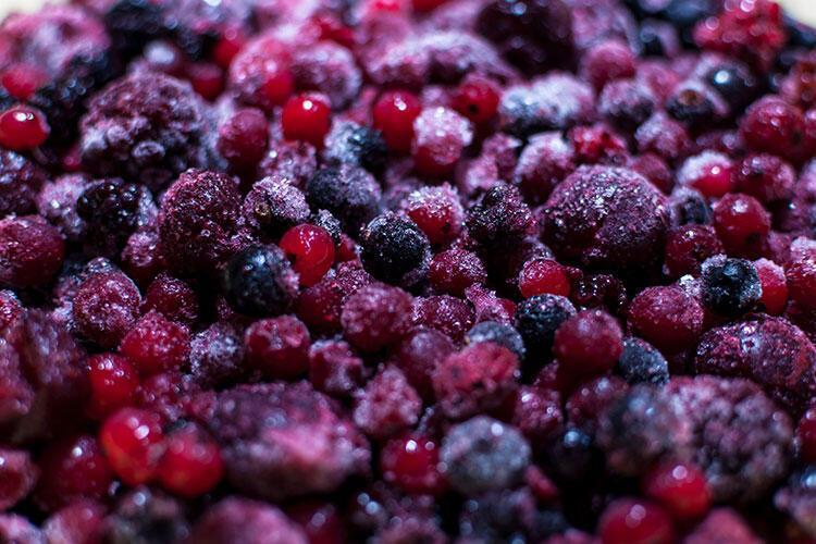 Dondurulmuş sebze ve meyveler