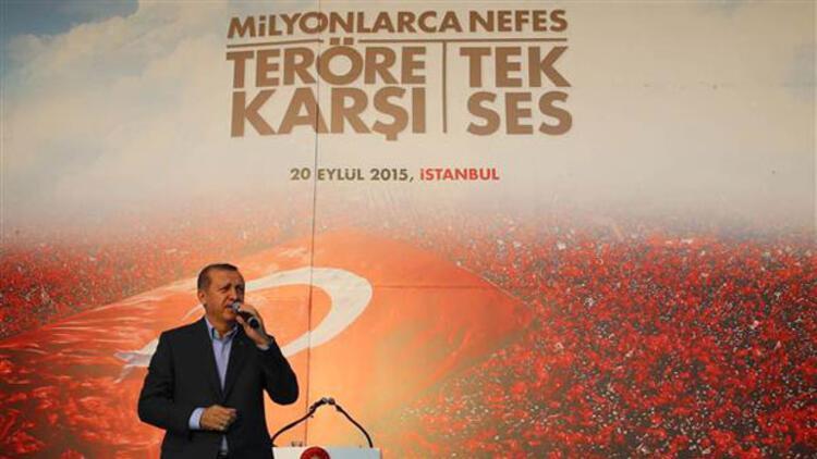 Cumhurbaşkanı Erdoğan 4 Ekimde Teröre Karşı Tek Ses mitingine katılacak 55