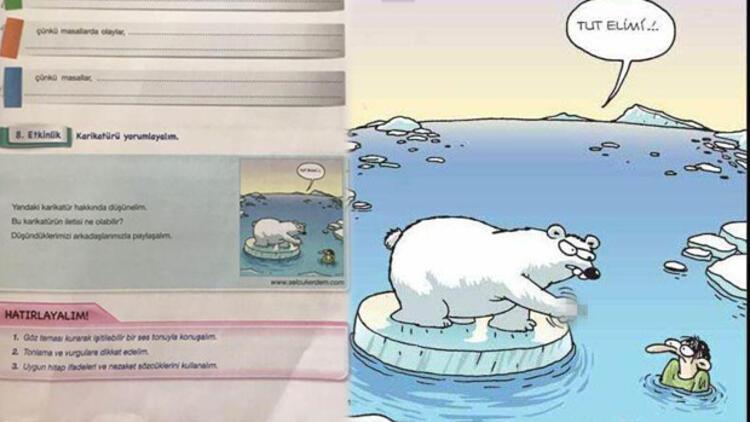 çalışma Kitabındaki Kutup Ayılı Karikatüre Tepki Son Dakika Haberler