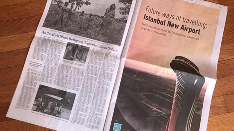 At Last New York Times Gets Serious >> Istanbul Havalimani Icin New York Times A Tam Sayfa Ilan Guncel