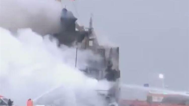 Son dakika: Pendik'te gemi yangını! Personel tahliye edildi
