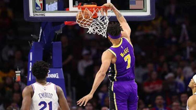 Philadelphia 76ers, Lakers'a fark attı