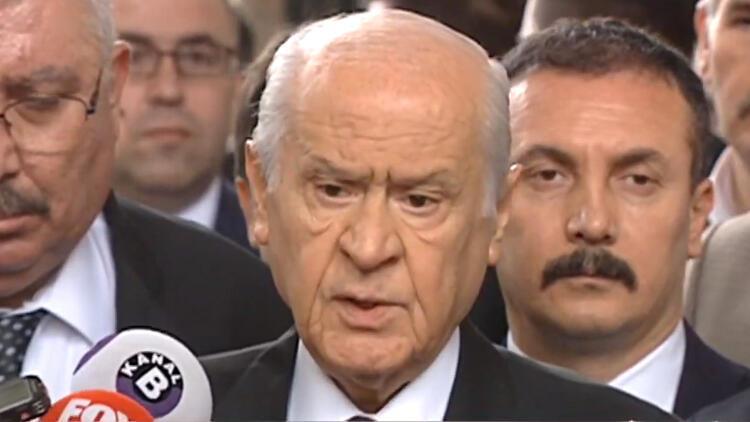Son dakika... MHP lideri Bahçeli: Vicdani huzur için yeni seçim düşünülebilir