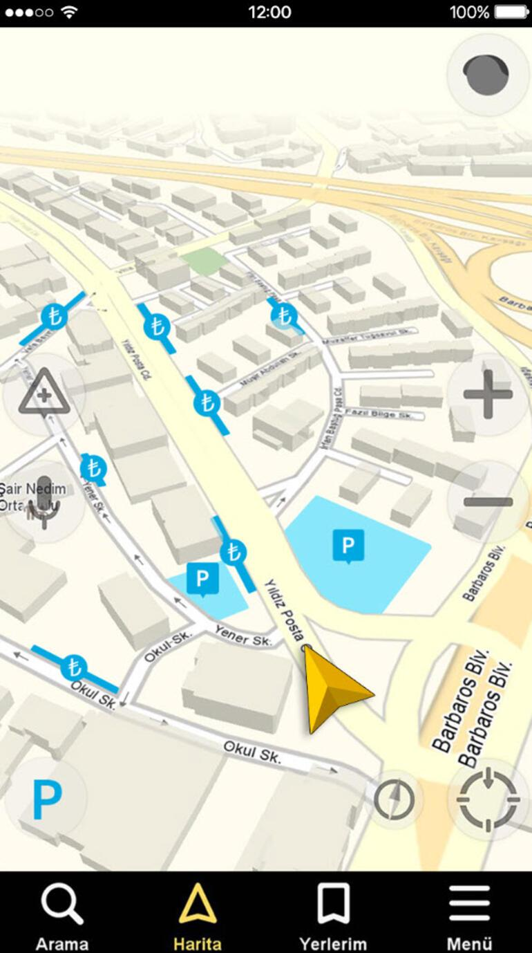 Yandex Navigasyon park yerlerini gösterecek