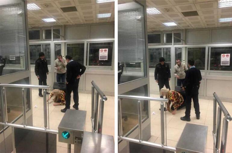 Sınırda inanılmaz olay Sevgilisi bavuldan çıktı