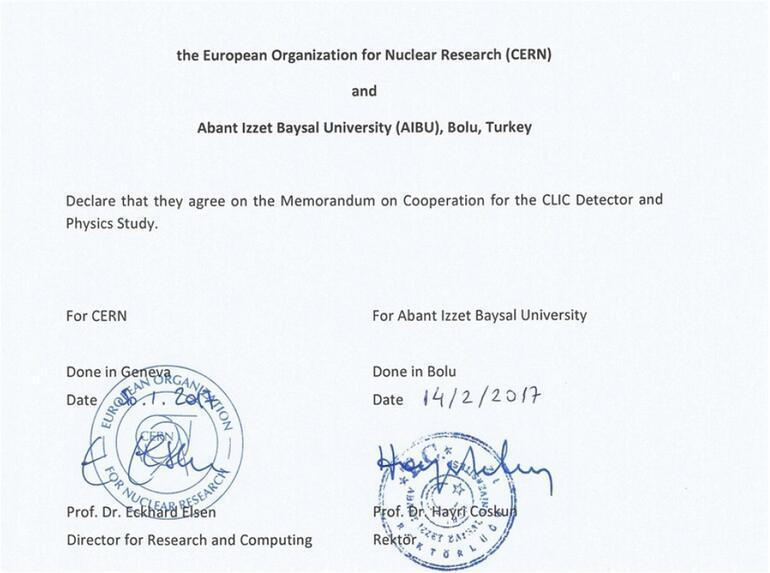 Türk üniversitesi ile CERN arasında bilimsel işbirliği