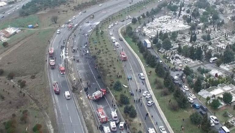 İstanbulda helikopter düştü... Eczacıbaşından ilk açıklama
