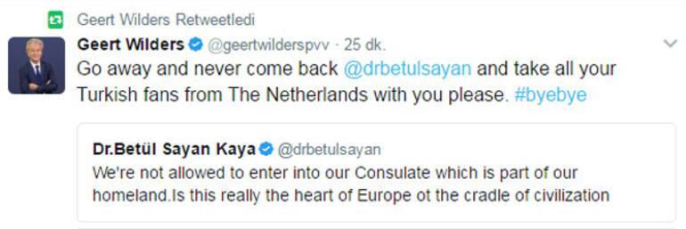 Hollandalı ırkçı lider Wildersten çirkin mesajlar