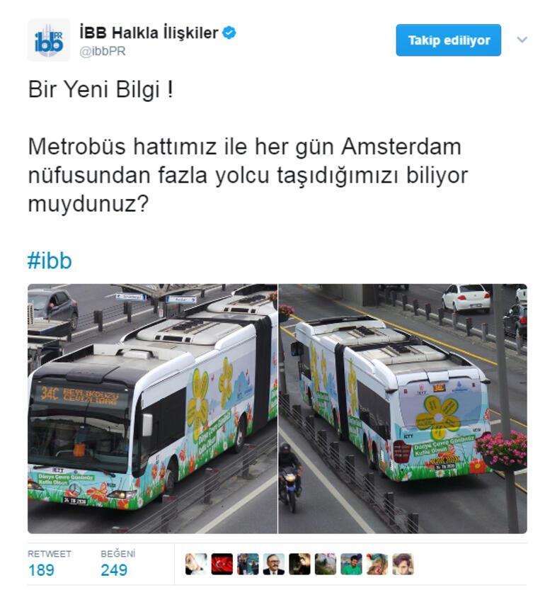 İBBnin metrobüs tweeti olay yarattı