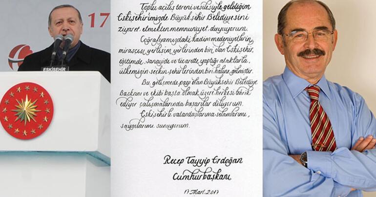 Erdoğandan CHPli belediyeye tebrik