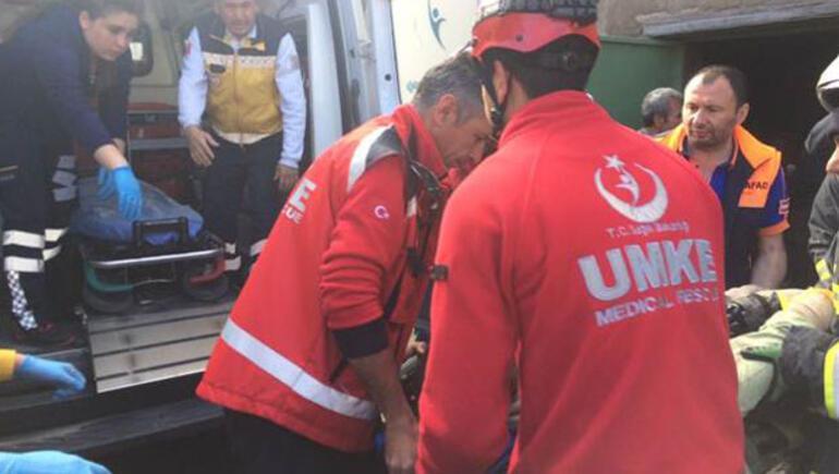 Kayseri'de göçük:1 ölü 2 yaralı