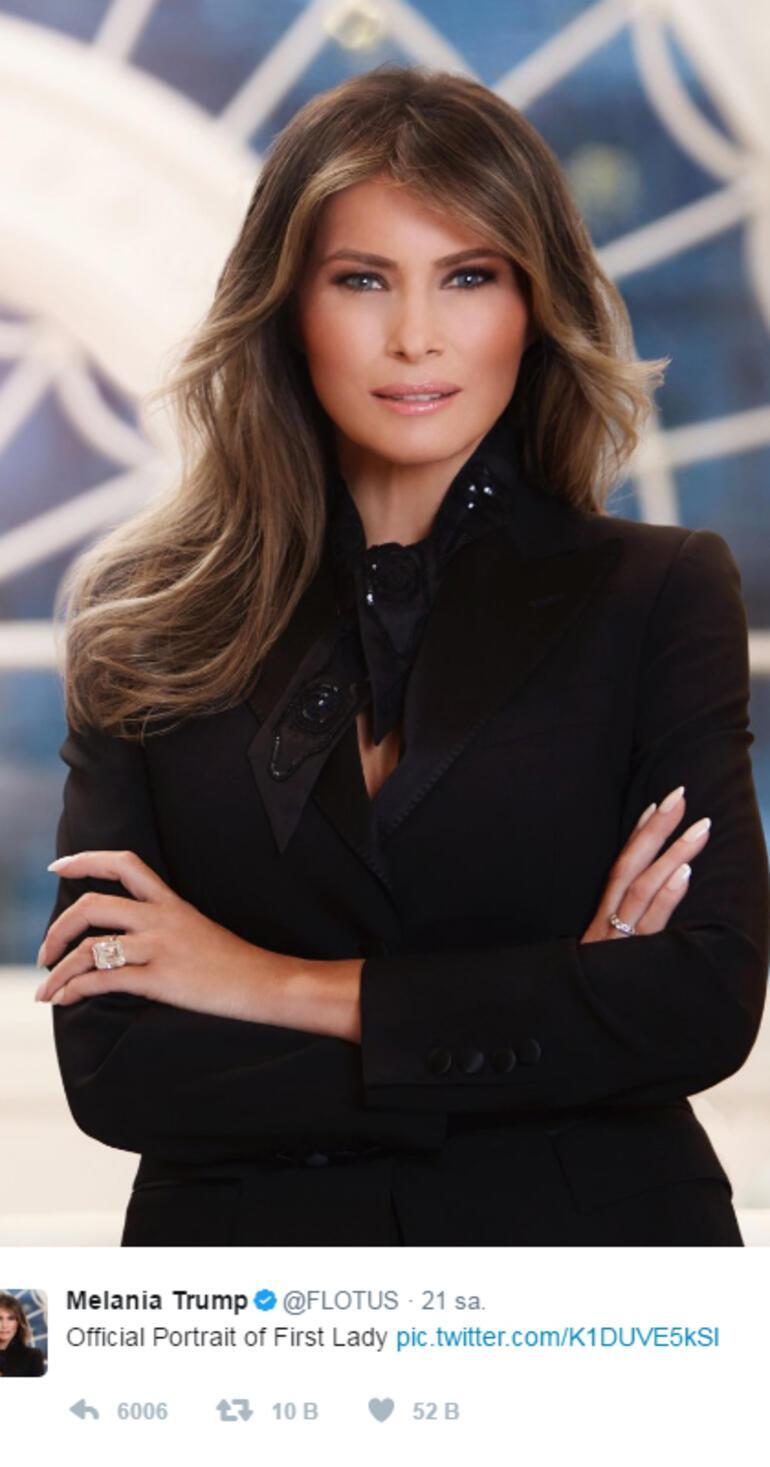 Melania Trumpın portresi sosyal medyayı salladı