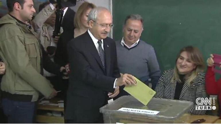 Başbakan Yıldırım, Kılıçdaroğlu ve Bahçeli oylarını kullandı