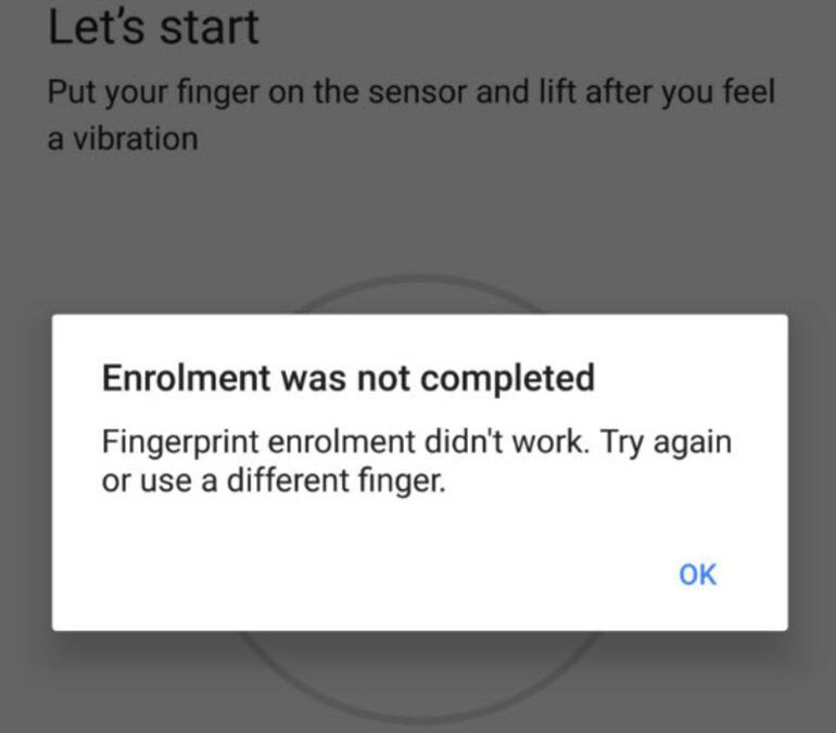 Android telefonlarda parmak izi kabusu
