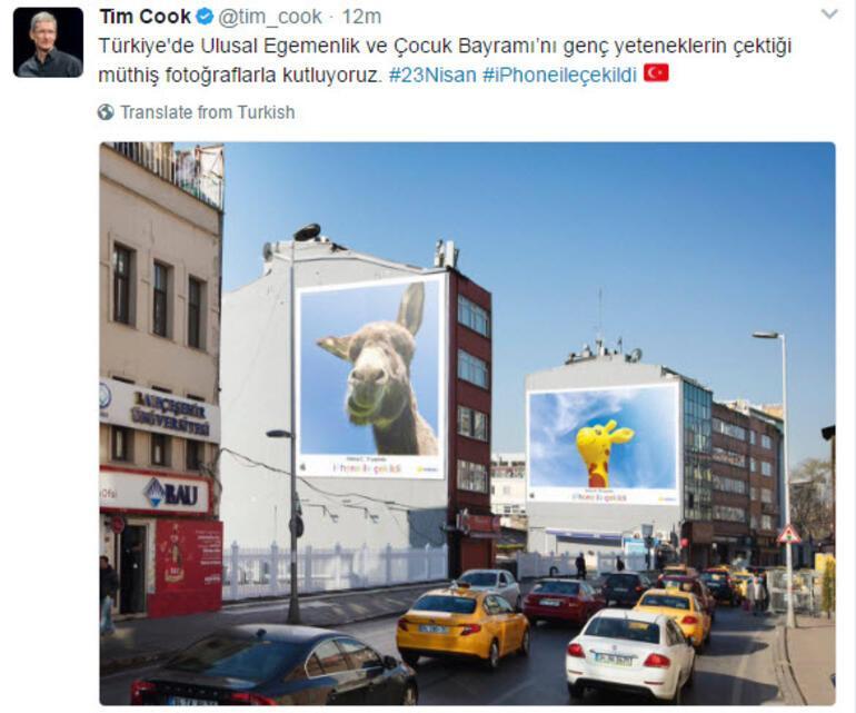 Appleın patronu Tim Cooktan 23 Nisan mesajı