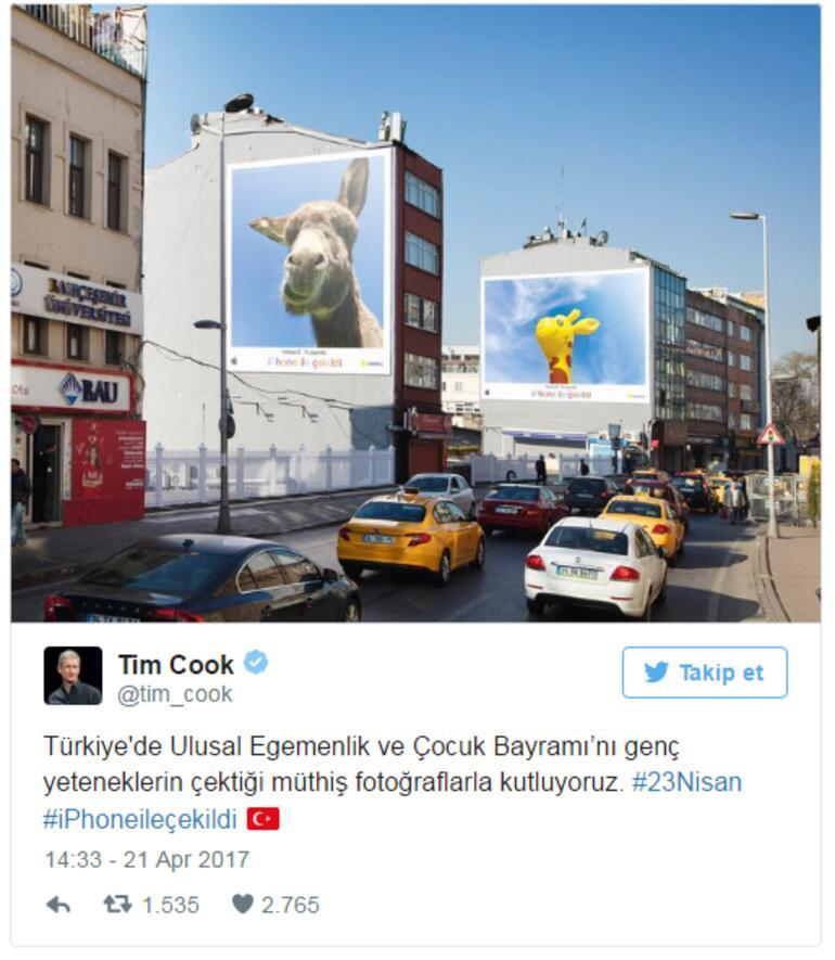 Apple CEOsundan Türkçe tweet