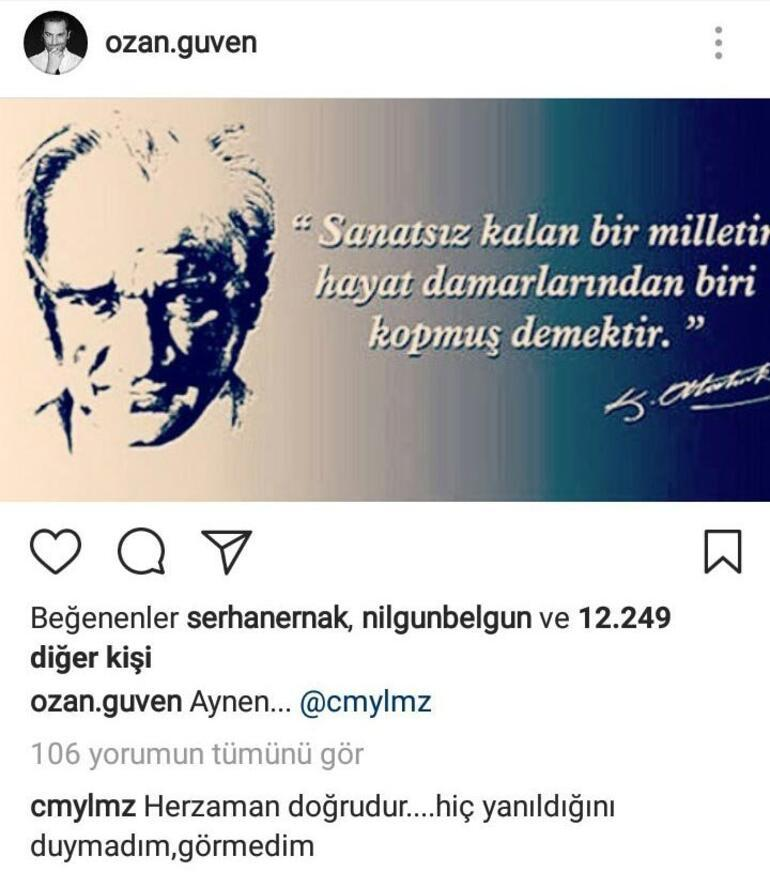 Cem Yılmaz'dan çarpıcı Atatürk yorumu