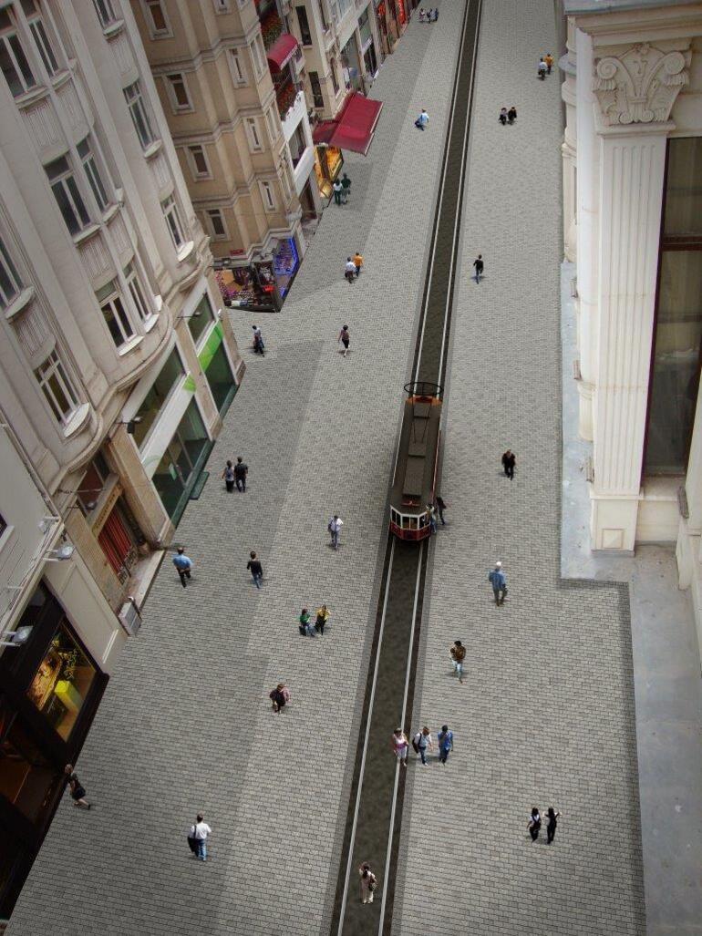 Fotoğrafları yayınlandı İstiklal Caddesi böyle olacak